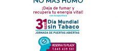 JORNADA DE PUERTAS ABIERTAS – 31 de mayo, Día mundial sin tabaco