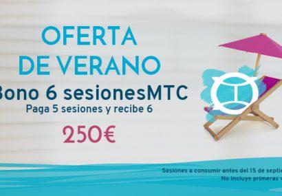 OFERTA DE VERANO ı Paga 5 y recibe 6 sesiones de MTC