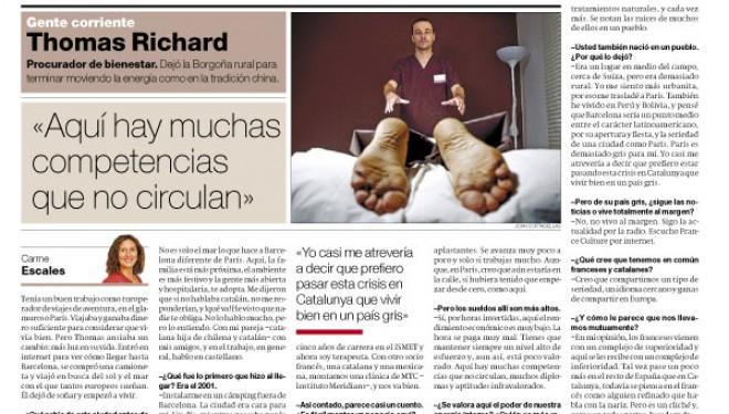 Thomas Richard en el El Periódico de Catalunya