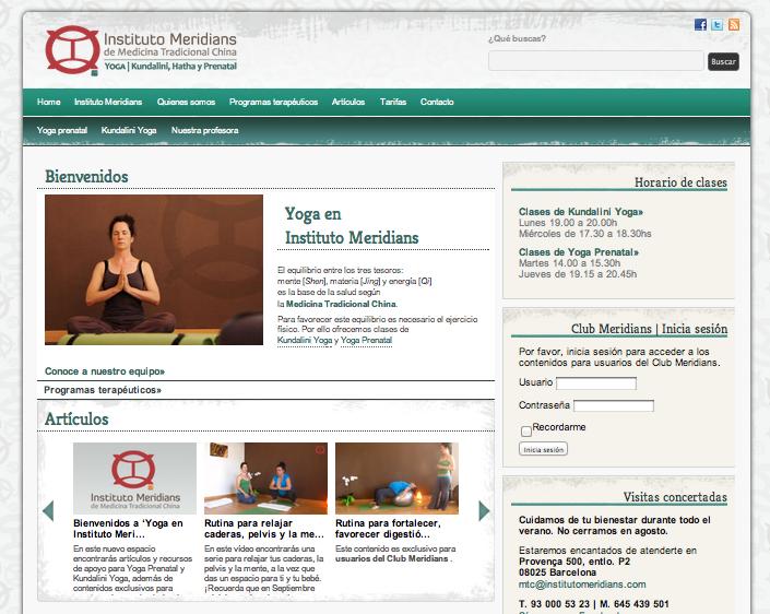 Yoga en Instituto Meridians