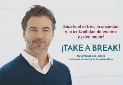 ¡TAKE A BREAK! Tratamiento anti-estrés con acupuntura en Sala Comunitaria